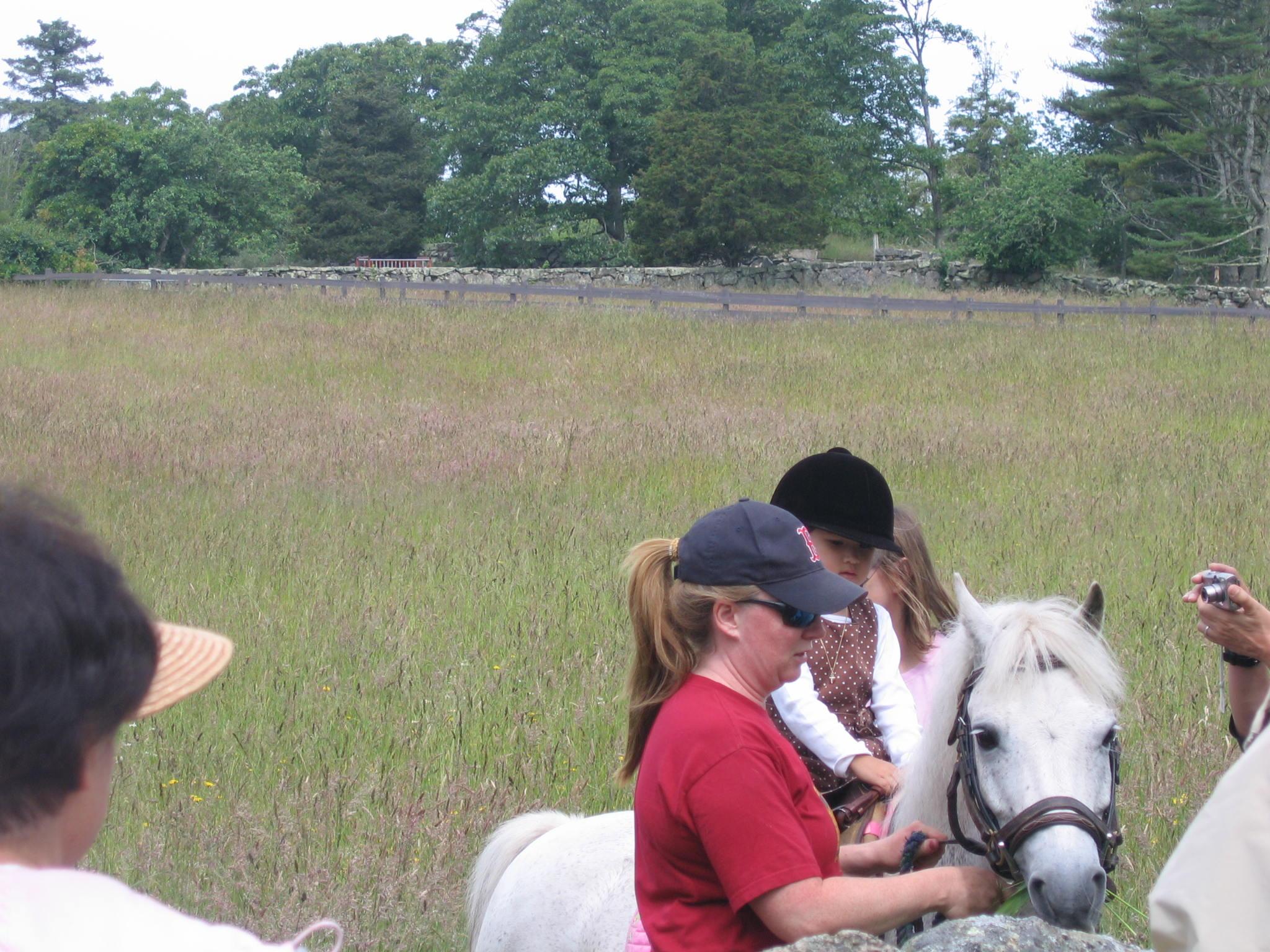 Sandy with happy rider (Julie hidden)