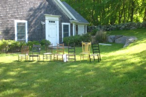 Bob Conway's antique chairs.
