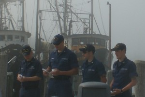 Menemsha Coast Guard at Blessing of Fleet.