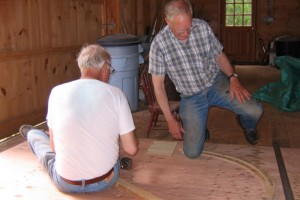 Clark and Bob discuss dimensions of rope groove.