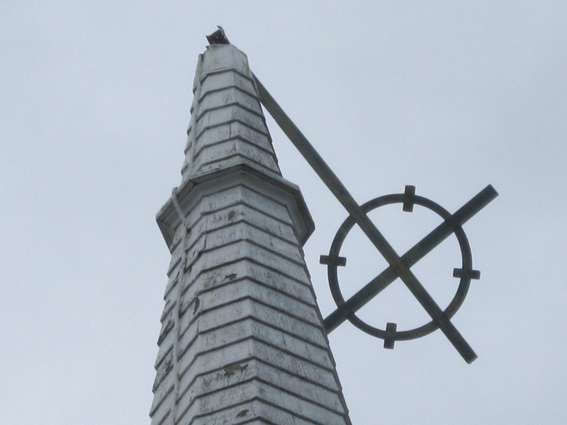 THE STEEPLE CROSS AFTER HURRICANE SANDY