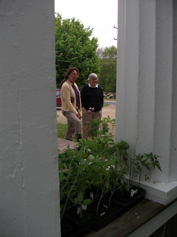 Marilyn and customer, Wendy, talk plants.