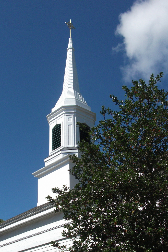 Steeple And Cross Repair Completed The Chilmark