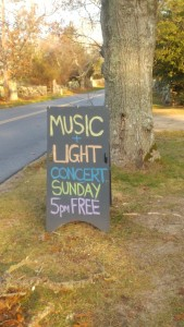 2017 Music and Light sign